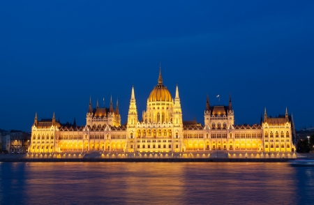 Parliament of Budapest, Hungary at night  Stock Photo - 17913572