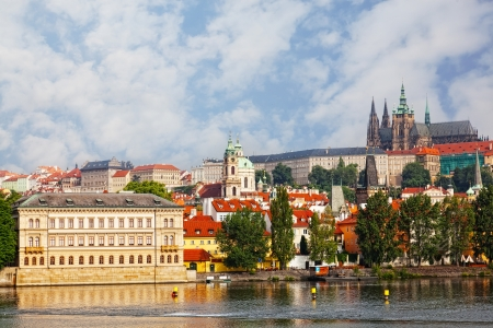 Czech republic, Prague, look on Gradchana and the Vltava River Stock Photo - 17913576