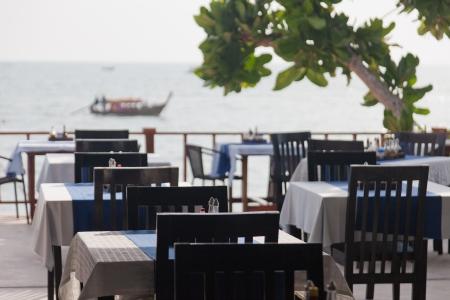 verandah: Restaurant verandah overlooking the sea