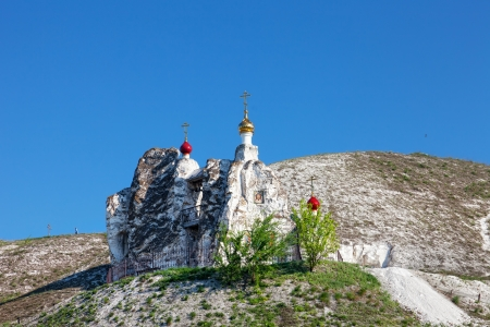 assumption: Belltower of a cave monastery in Kostomarovo, Russia