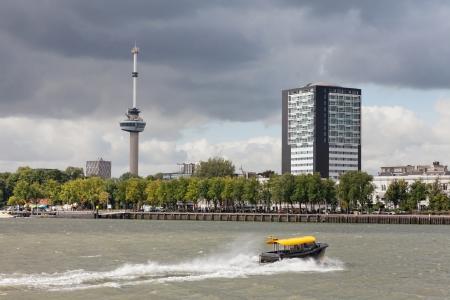 euromast: ROTTERDAM, NETHERLANDS - SEPTEMBER 28. City views Rotterdam, Nideranda, September 28, 2012. The population of the city of 617 347 inhabitants (for January 1, 2012), it is the second for number of inhabitants the city in the Netherlands