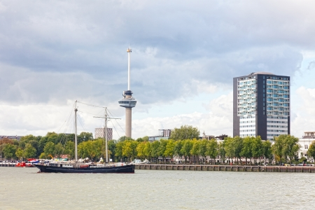 euromast: View of the embankment in Rotterdam, Holland