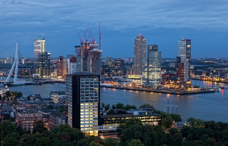 View of Rotterdam from height of bird Stock Photo - 20477668