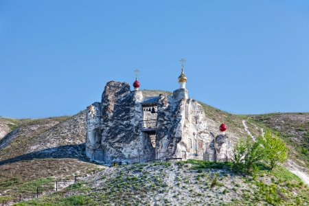 voronezh: Belltower of a cave monastery in Kostomarovo, Russia