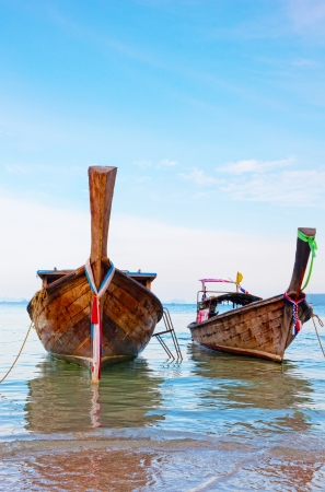 longtail: Traditional longtail boat , Krabi,Thailand Stock Photo