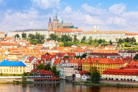 czech culture: Czech republic, Prague, look on Gradchana and the Vltava River