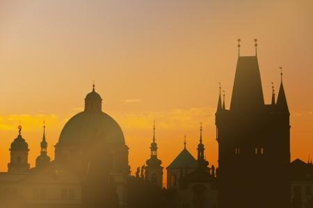 Sunrise on Charles bridge in Prague, the Czech Republic Reklamní fotografie