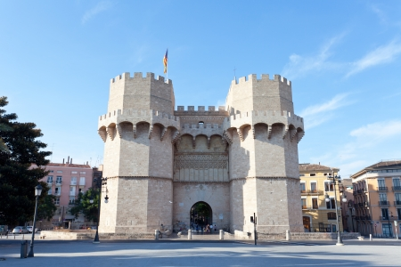 torres: Serranos Towers  A view of the Serranos Towers, a medieval gate in Valencia