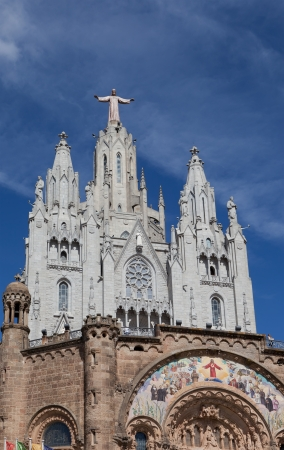 sagrat cor: Temple del Sagrat Cor  Church of the Sacred Heart   Barcelona  Spain