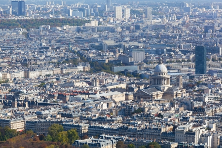View of Paris from height of birds flight