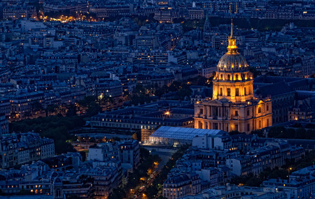 PARIS, FRANCE - SEPTEMBER 30, 2012: Night view of the city. Paris - the main political, economic and cultural center of France