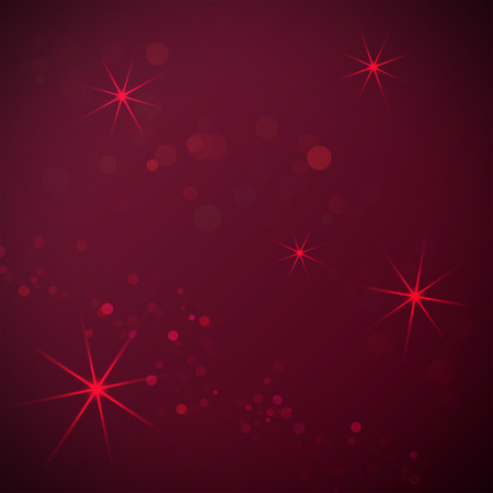 asterisks: Dark red background with a bokeh  and asterisks for design
