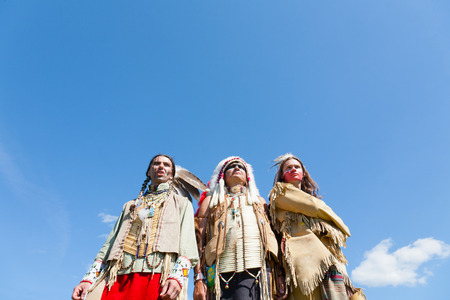 Group of North American Indians photo