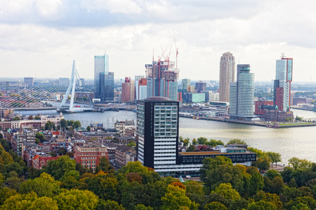 maas: ROTTERDAM, NETHERLANDS - SEPT 28,2012. City views Rotterdam. The population of the city of 617347 inhabitants, it is second for number of inhabitants city in Netherlands Editorial