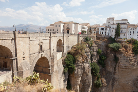 Spain, Rhonda, new bridge and house on the edge of the precipice photo