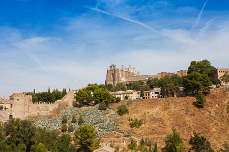 toledo town: Panoramic view of Toledo, Spain