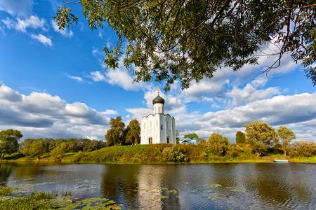 intercession: Church of Intercession upon Nerl River. Bogolubovo, Vladimir region Stock Photo