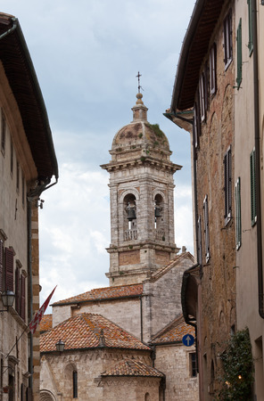san quirico: San Francescos church in San Quirico dOrcia, Tuscany, Italy