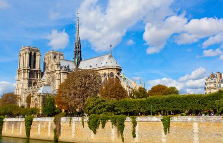 dame: Paris, Notre Dame  along the Seine river