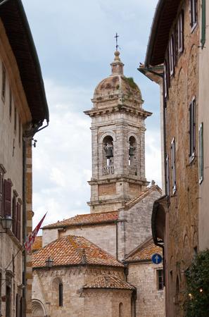 quirico: San Francescos church in San Quirico dOrcia, Tuscany, Italy