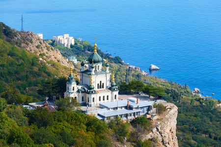 Church of Christs Resurrection over the settlement of Foros, the Crimea