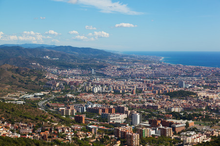 beaches of spain: View of Barcelona from park Guel, Spain