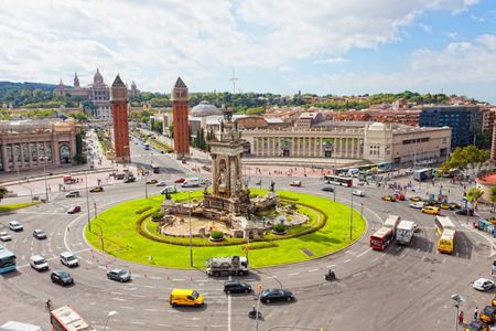 espanya: BARCELONA, SPAIN, SEPTEMBER 12, 2013: Espanya Square in Barcelona.Barcelona - the city second for the population in Spain, the capital of the autonomous Region of Catalonia