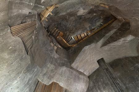 WIELICZKA, POLAND - JANUARY 2, 2015: Wieliczka Salt Mine (13th century) is one of the world's oldest salt mines. Has over 300 corridors and 300 chambers on 9 levels. Redakční