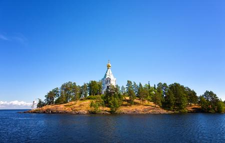 nikolay: Valaam. A monastery of the prelate Nikolay in the sunny summer day