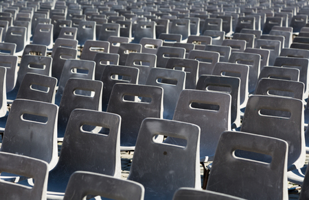 st  peter's basilica pope: Empty chairs behind Cathedral of Saint Peter square , Vatican