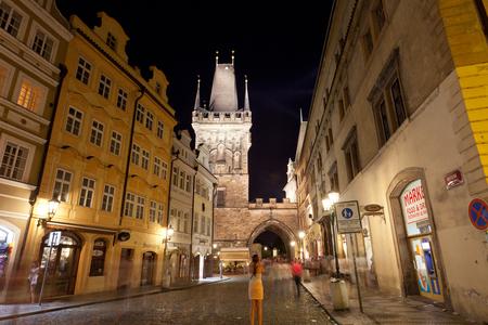3 5: PRAGUE,CZECH REPUBLIC - JUlY 28, 2013:Tourists on Staromestskaya Square . Annually Prague is visited by over 3,5 mil. tourists.