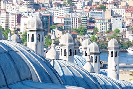suleymaniye: Suleymaniye Mosque domes close up. Istanbul