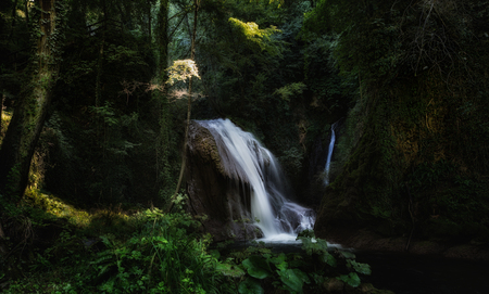 terni: One of small cascades Cascata Delle Marmore waterfalls, Umbria, Italy Stock Photo