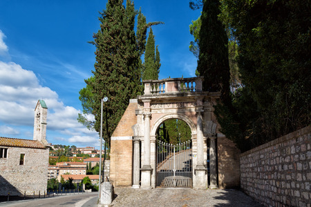 foreigners: Gate of university for foreigners in Perugia, Umbria