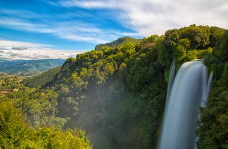 terni: Cascata Delle Marmore waterfalls in Terni, Umbria, Italy