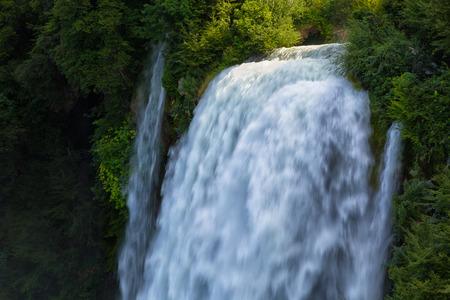terni: Man-made waterfall Cascata Delle Marmore Terni, Umbria, Italy Stock Photo