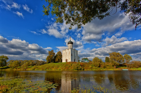 nerl river: Russia, Church of Intercession upon Nerl River