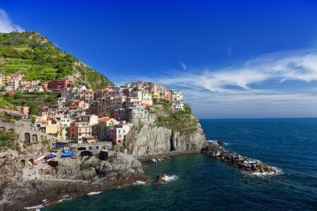 spezia: View of Manarola. Manarola is a small town in the province of La Spezia, Liguria,  Italy. Editorial