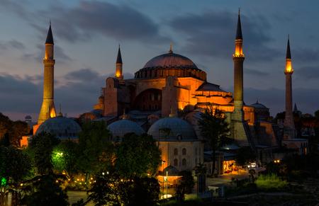 sophia: Hagia Sophia on sunset, Istanbul Editorial