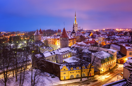 urban decline: View of an old city in Tallinn. Estonia Stock Photo