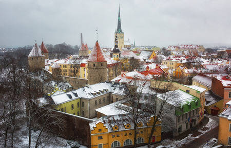 tallinn: Winter in Tallinn, Old Town Estonia
