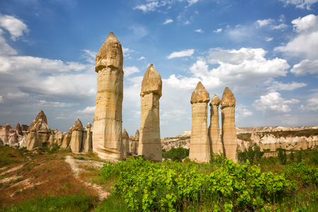 phallus: Unique geological formations in Love Valley, Cappadocia, Central Anatolia, Turkey.