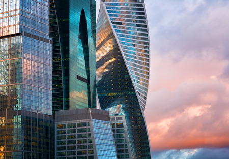 international business center: MOSCOW - APRIL 14, 2015: The Moscow International Business Center, Moscow-City . Located near the Third Ring Road, the Moscow-City area is currently under development