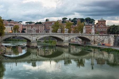 ponte: View towards the Ponte SantAngelo Stock Photo