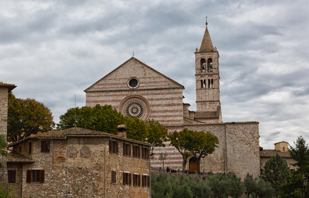 and saint: Saint Claire Cathedral in Assisi, Italy