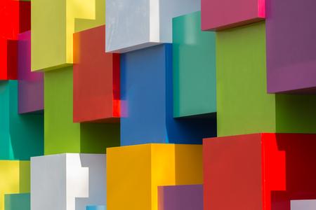 Achtergrond van heldere geometrische vormen