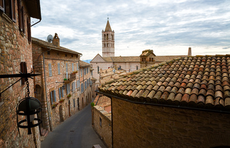 assisi: Old houses in Assisi, Umbria, Italy