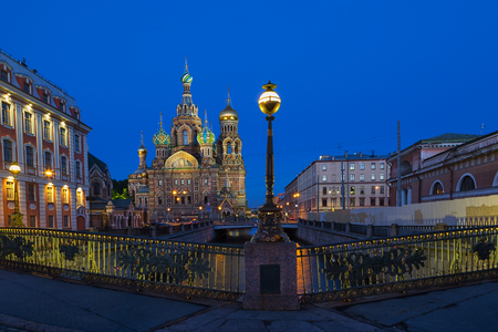 saviour: Church of the Saviour on Spilled Blood in white night, St. Petersburg, Russia