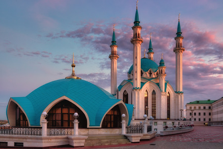 Qol Sharif mosque  on sunrise Kazan, Russia