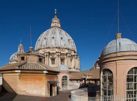 Dome of St Peters Cathedral, Vatican Stock Photo